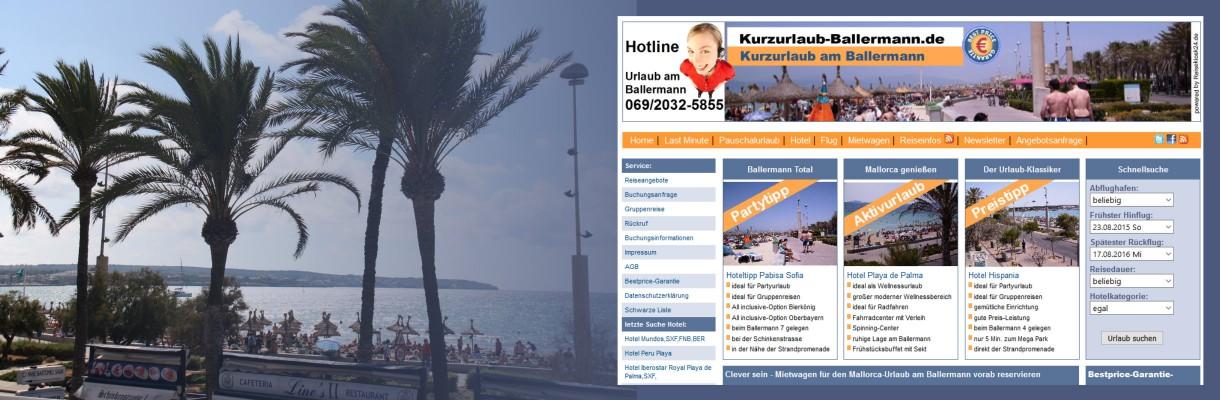 Kurzurlaub-Ballermann.de - Die Spezialisten für Urlaub am Ballermann