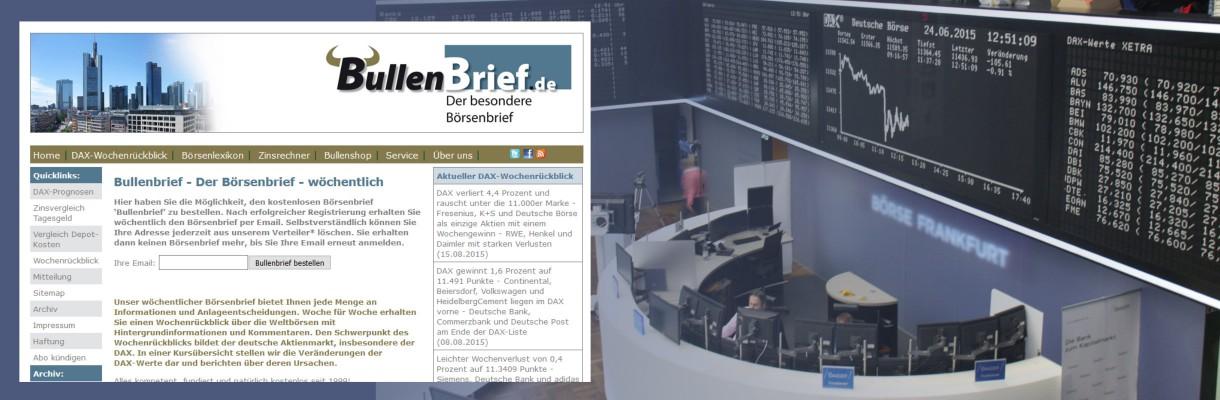 Bullenbrief.de - Der kostenlose Börsenbrief per Email